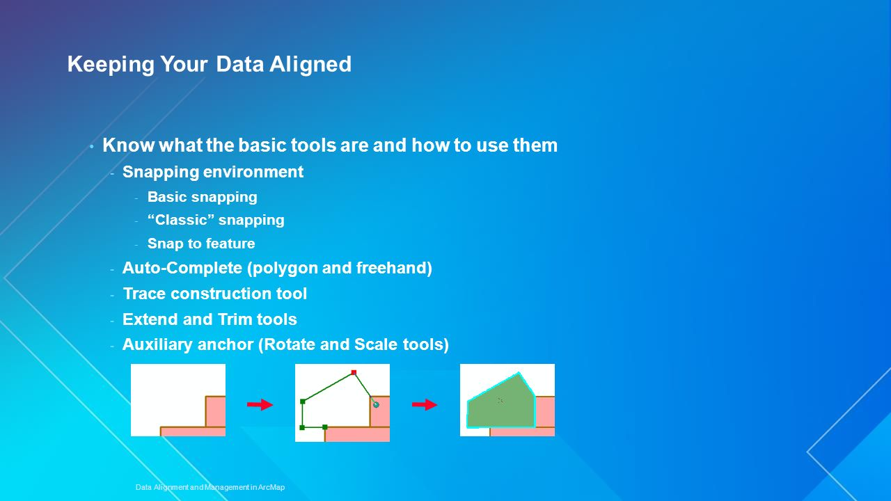 Data Alignment and Management in ArcMap - ppt video online
