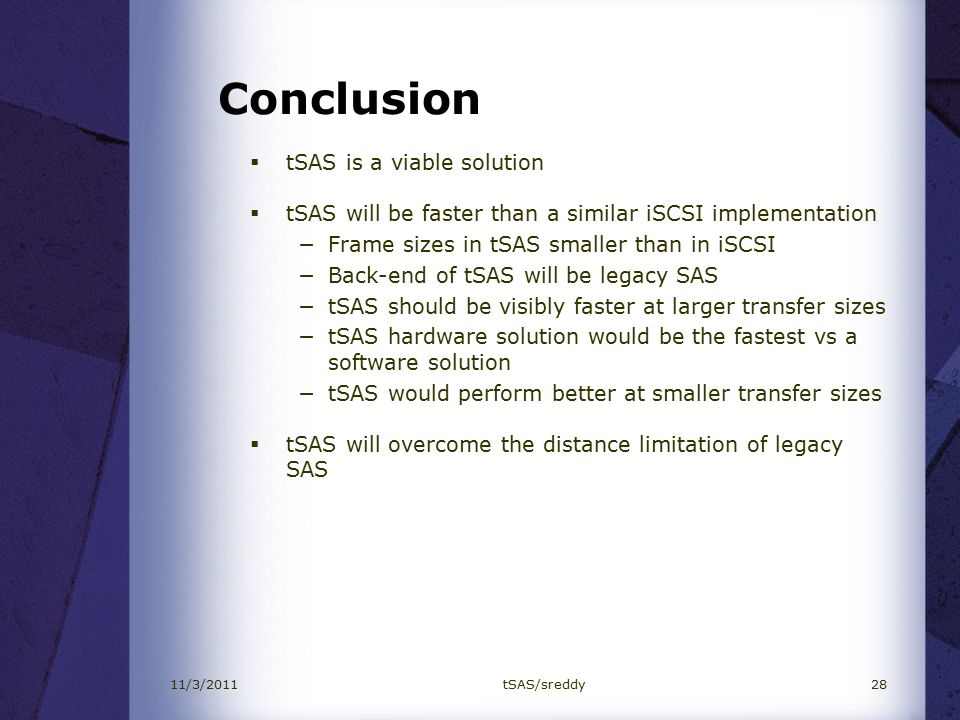 Investigating Serial Attached SCSI (SAS) over TCP (tSAS) - ppt video ...