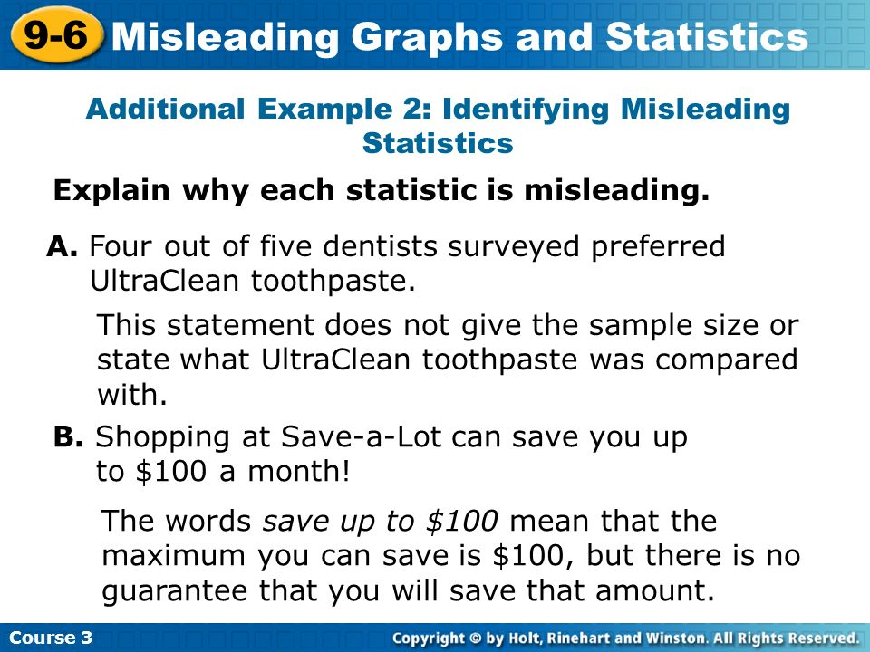 misleading statistics sample bias essay This essay aims to demonstrate various strategies that can make statistics unreliable such as sampling bias, misleading graphs, misleading advertisements and unfair comparisons australian centre for education.