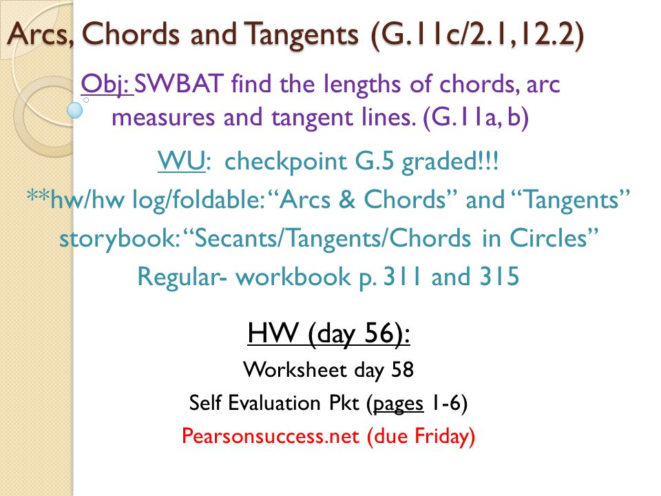 Arcs Chords And Tangents G11c21122 Ppt Download