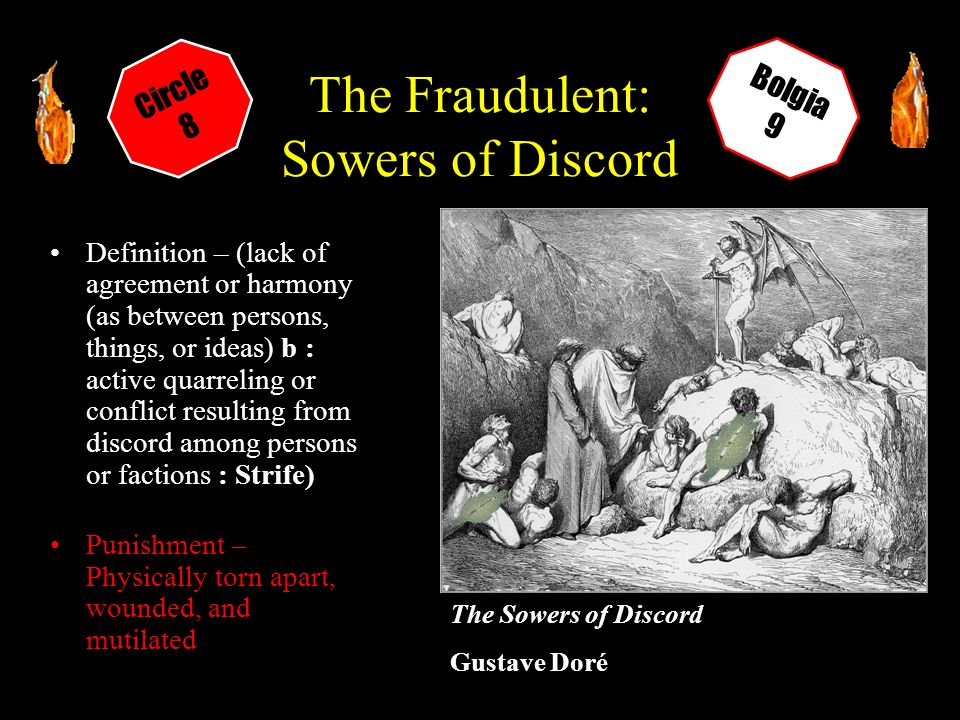 sowers of discord definition