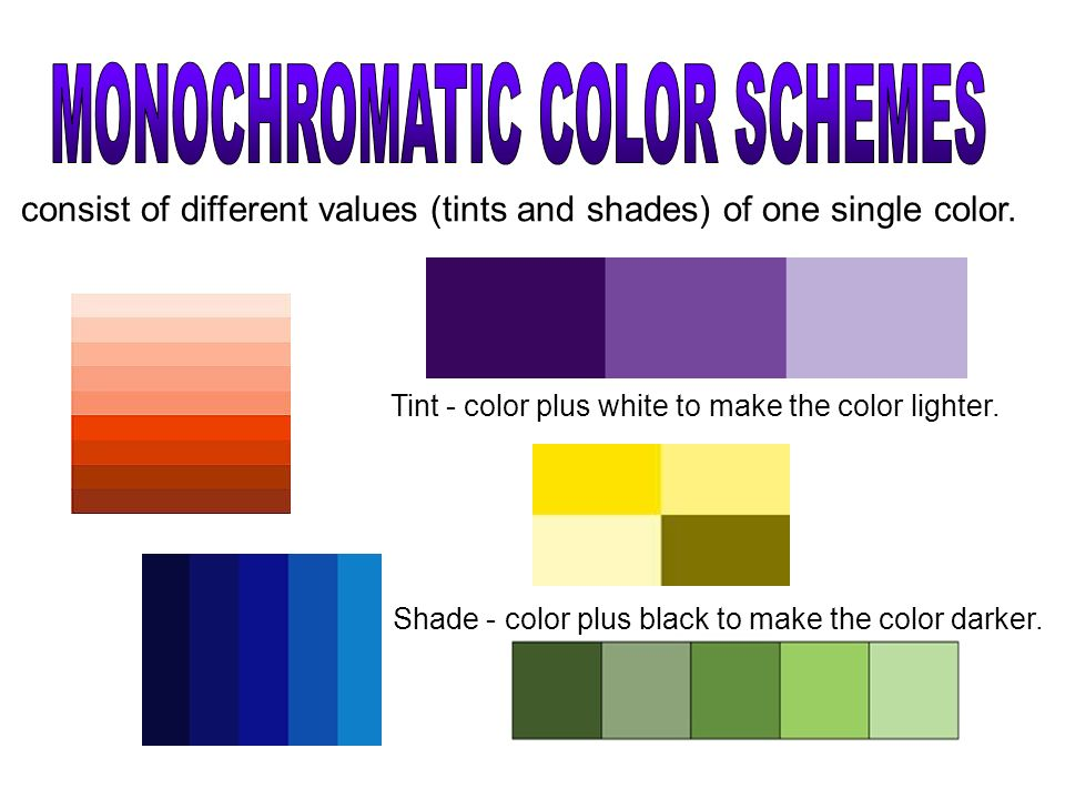 Monochromatic Color Schemes
