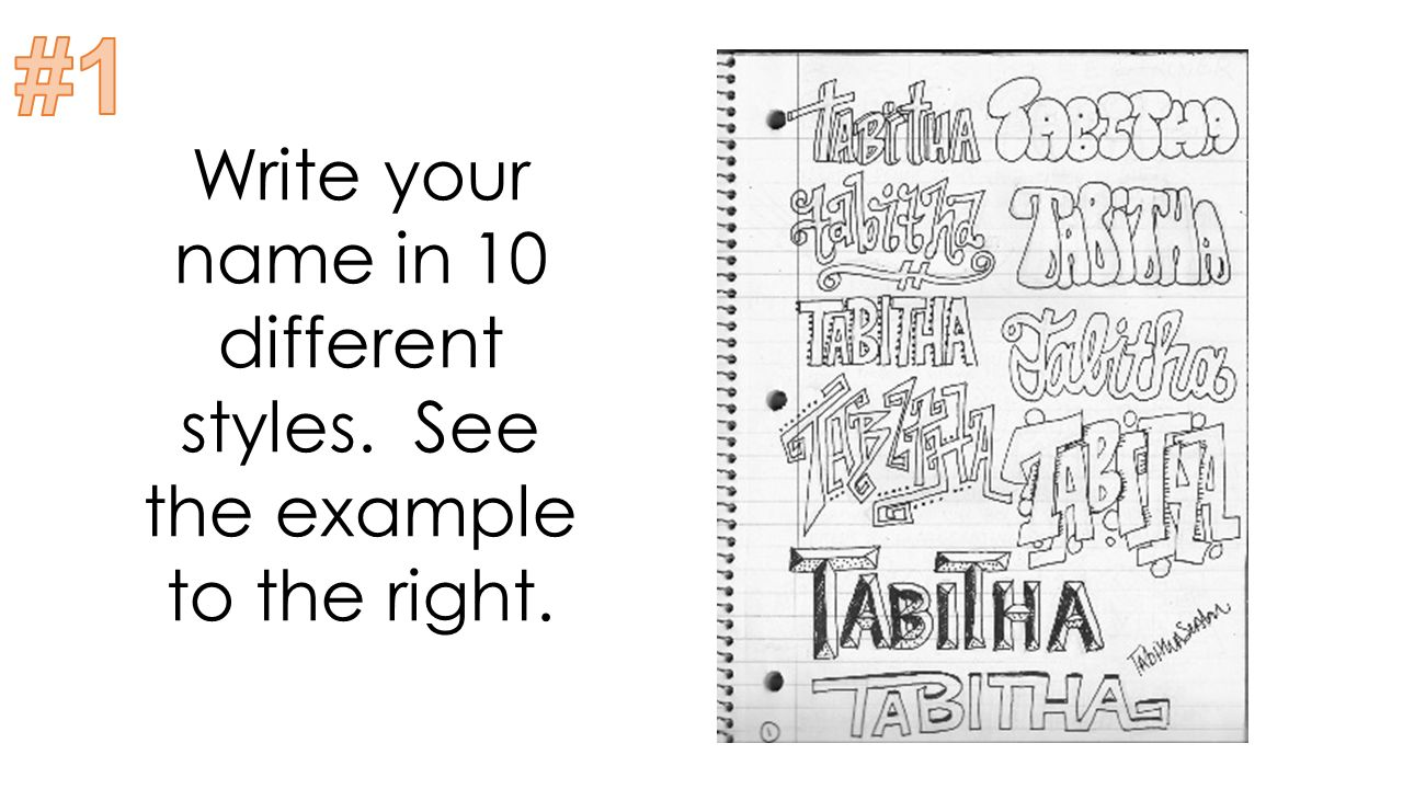 2 Write Your Name In 10 Different Styles