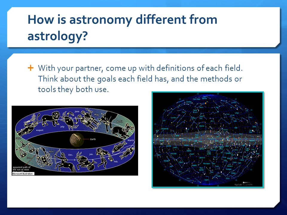 astrology and astronomy sentences