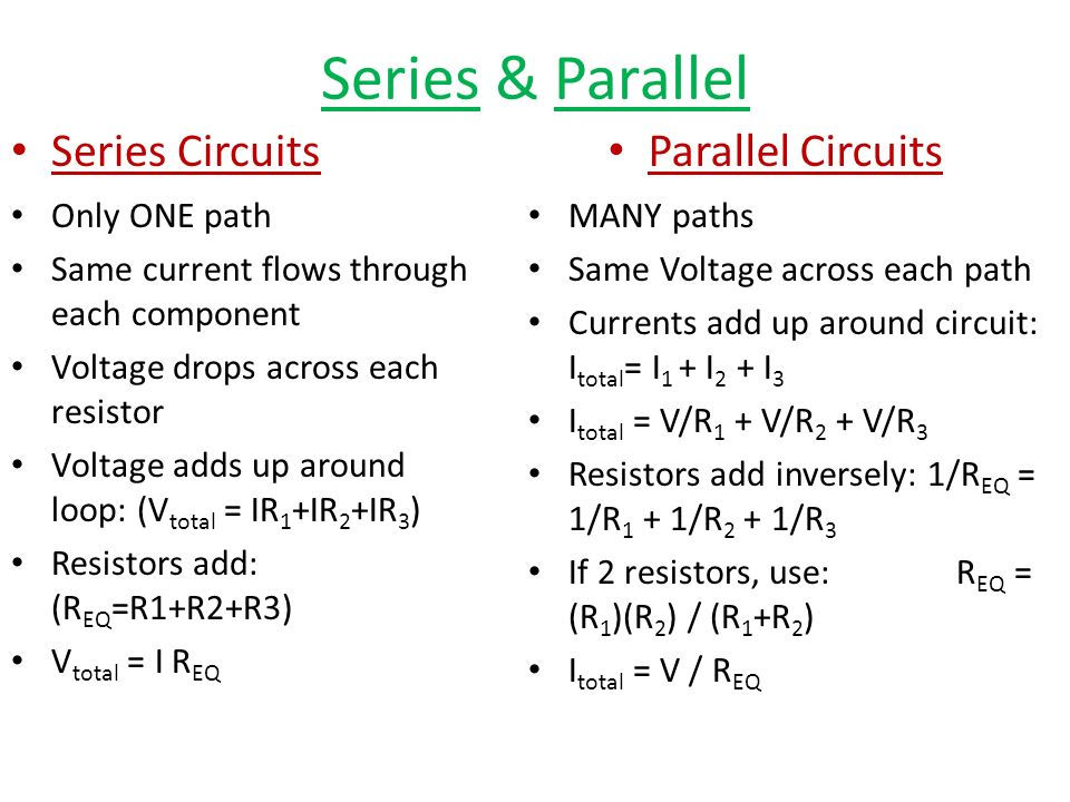 Series Amp Parallel Circuits Ppt Video Online Download