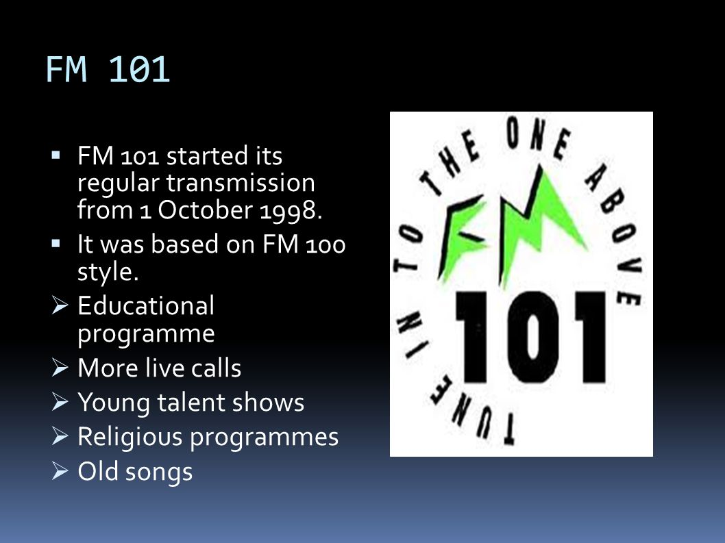History of FM channels in Pakistan - ppt video online download