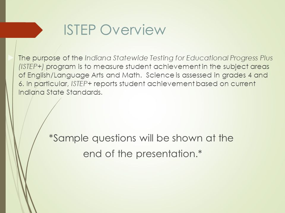 ISTEP IREAD 3 Parent Introduction Ppt Download