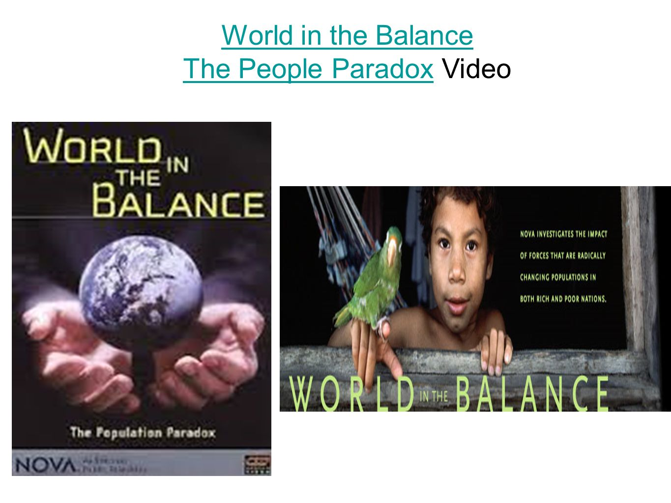 world in the balance people paradox