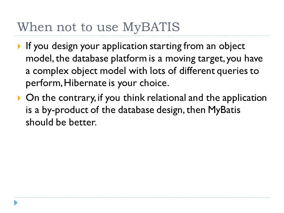 Fundamentals of MyBATIS - ppt video online download