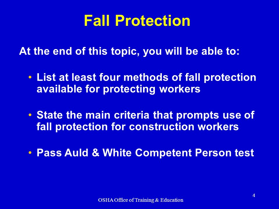 Osha Office Of Training Education Ppt Video Online Download