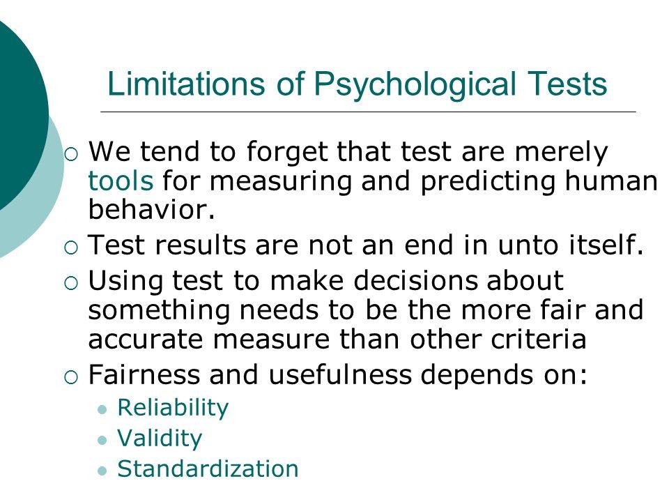 Characteristics of Psychology Tests