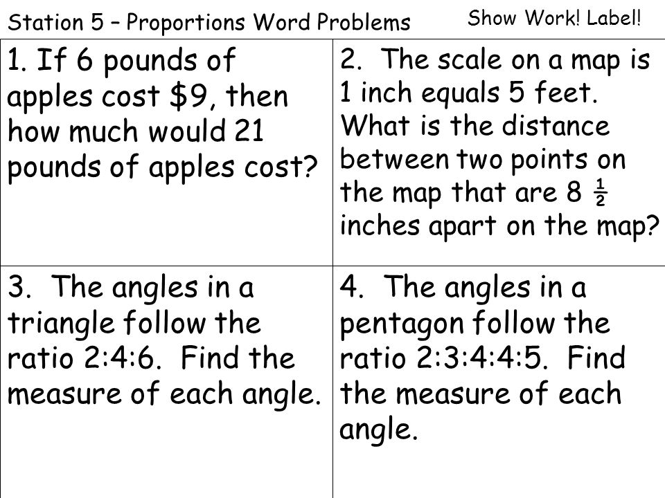 using proportions to solve word problems