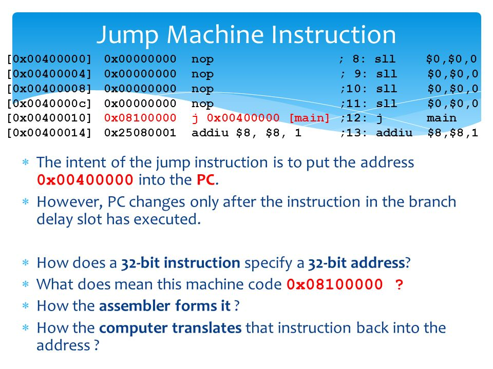 Jump And Branch Instructions Ppt Download