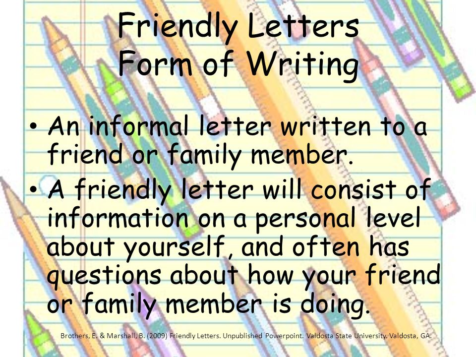 Friendly letters grade 1 erin brothers brittany marshall eced friendly letters form of writing spiritdancerdesigns Choice Image