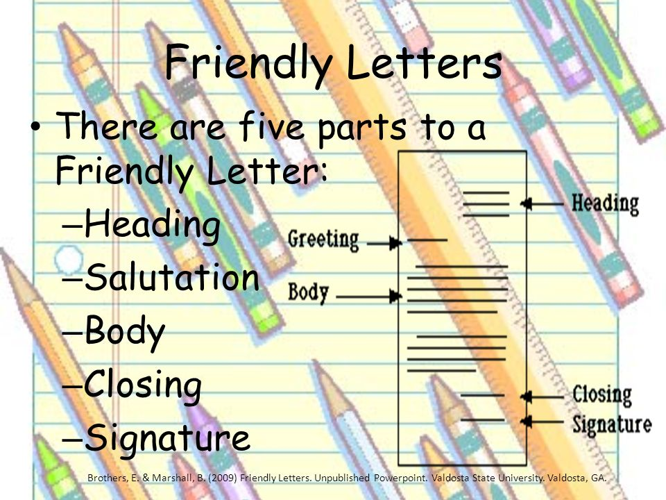 5 friendly letters
