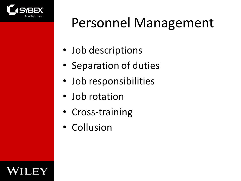 Chapter 2: Personnel Security and Risk Management Concepts - ppt ...