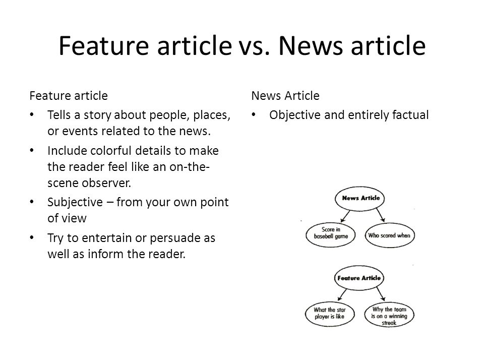 how to make a feature article