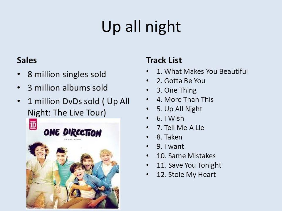 up all night singles