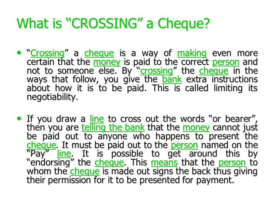 open cheque