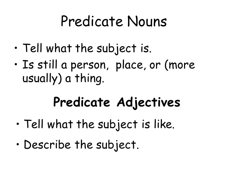 Linking Verbs And Predicate Words Ppt Download