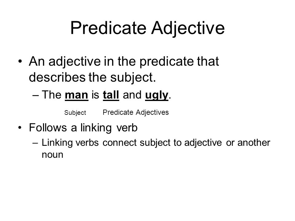 predicate nouns and adjectives - ppt download