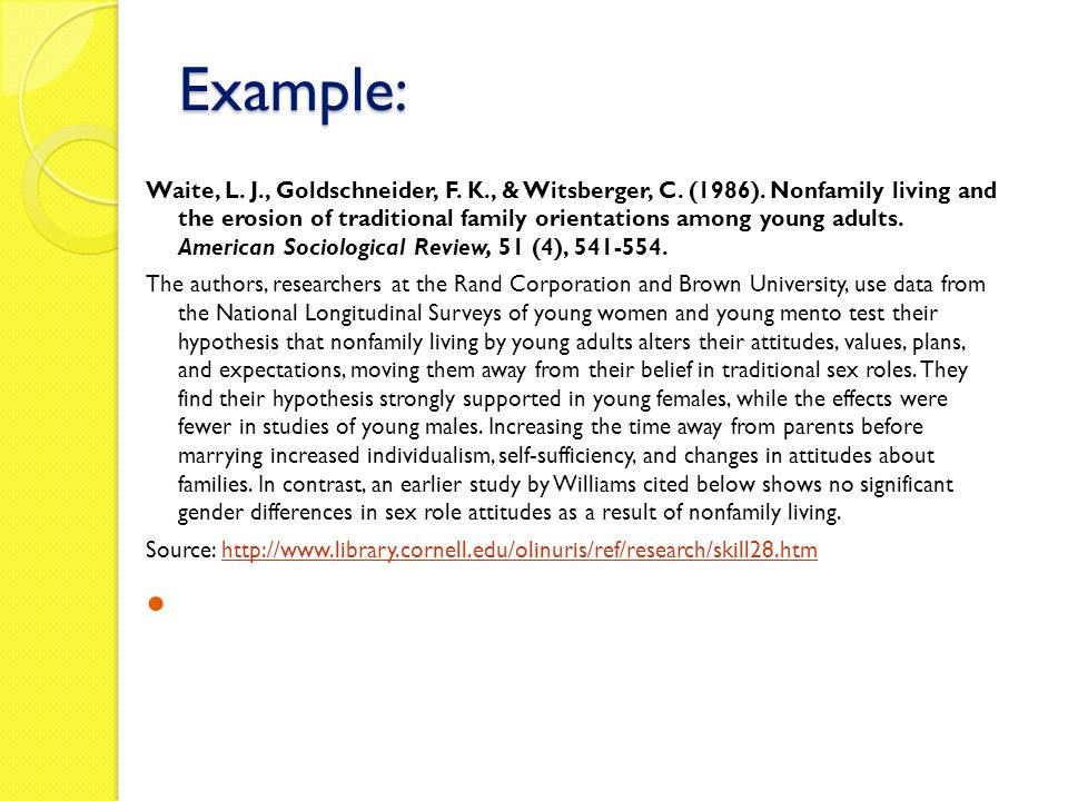 annoted bibliography example