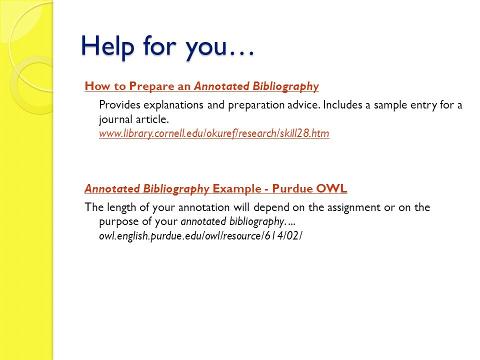 purdue owl annotated bibliography example apa