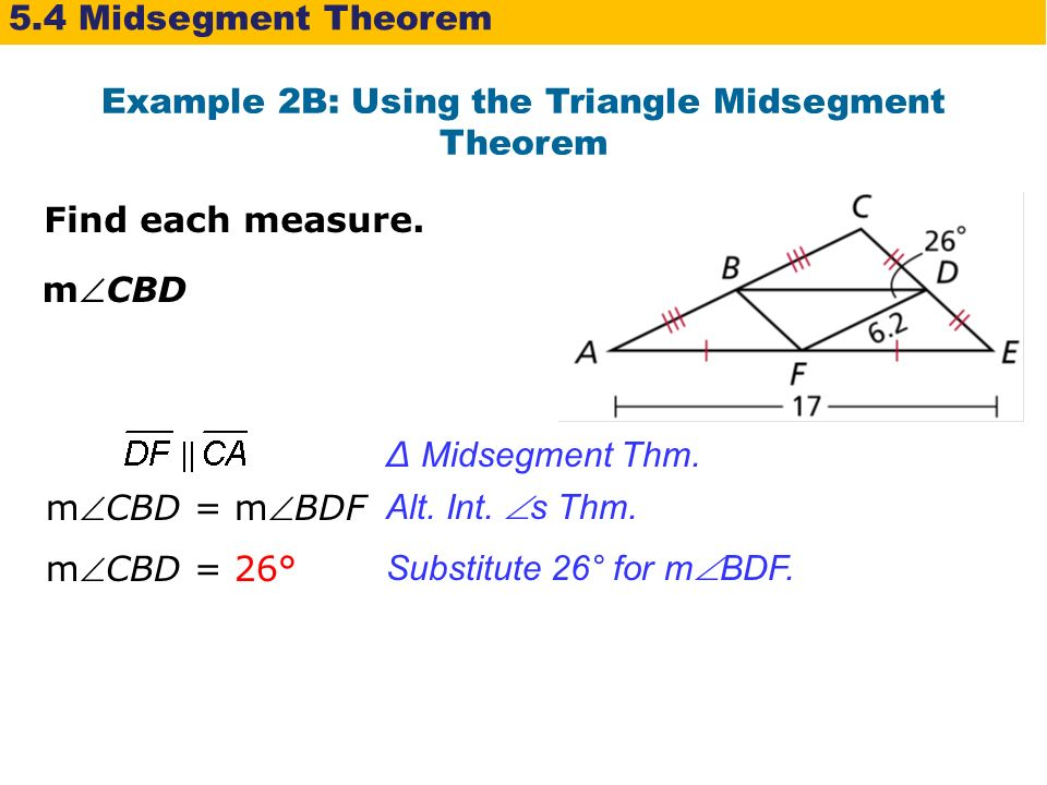 Triangle midsegment theorem youtube.
