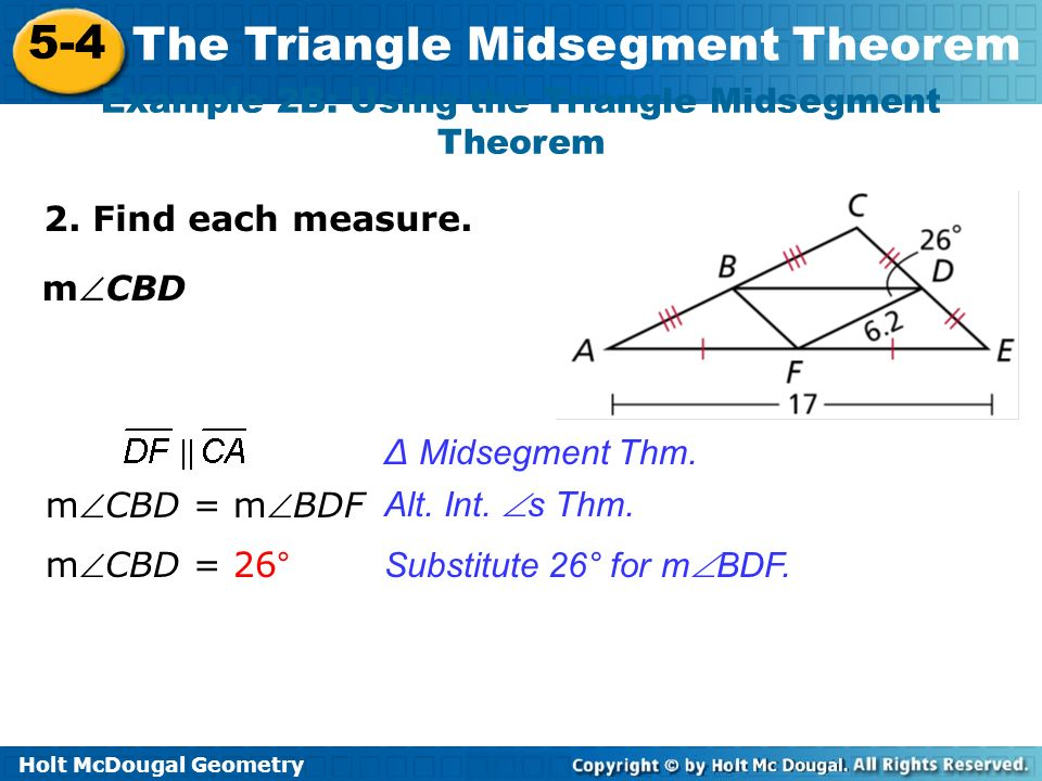The triangle midsegment theorem youtube.