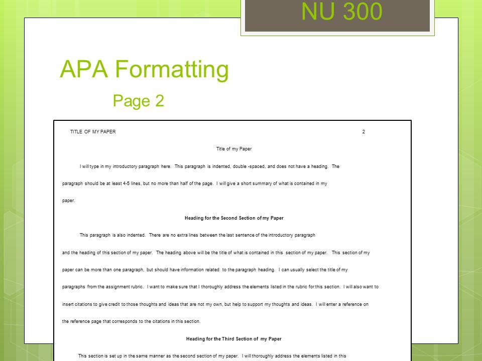 introduction paragraph apa format