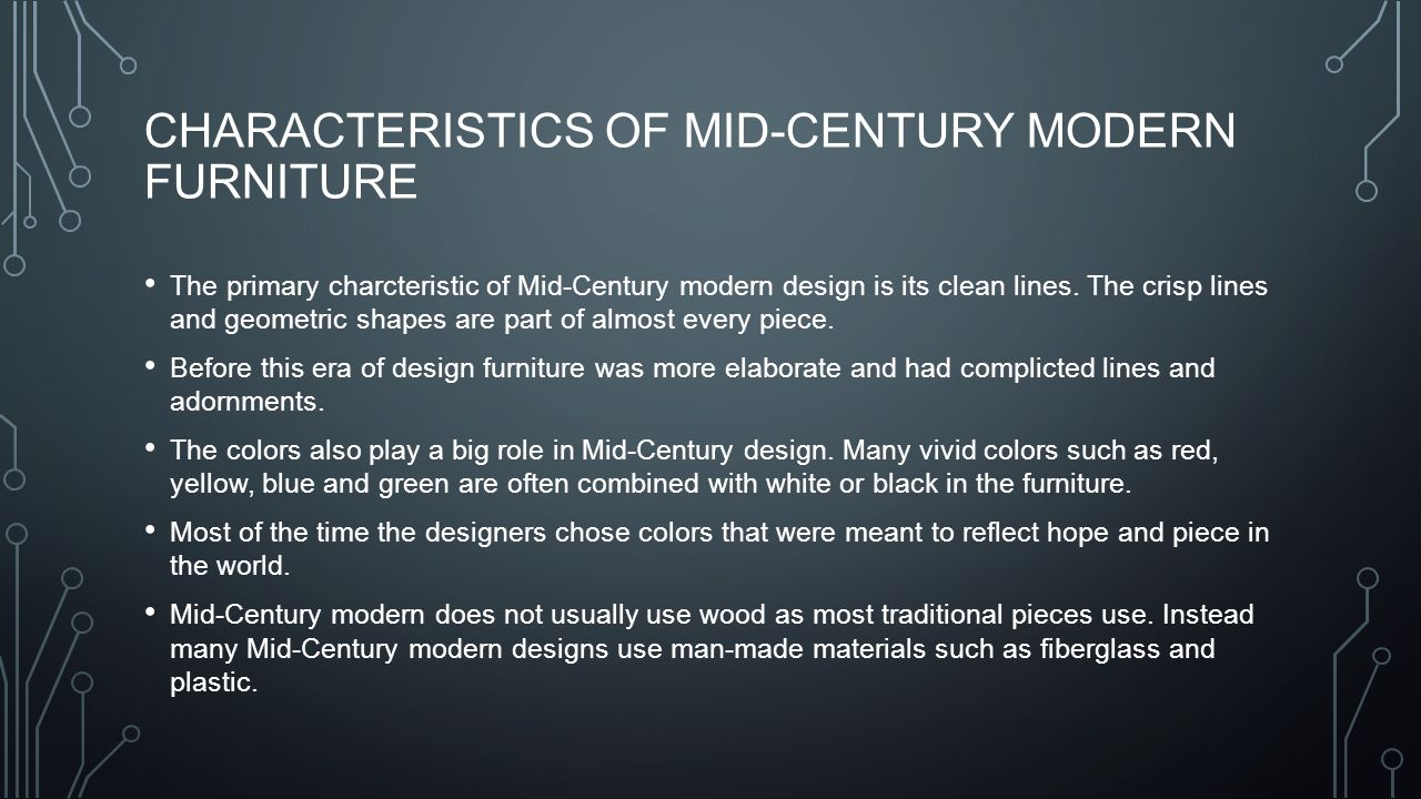 3 Characteristics Of Mid Century Modern Furniture