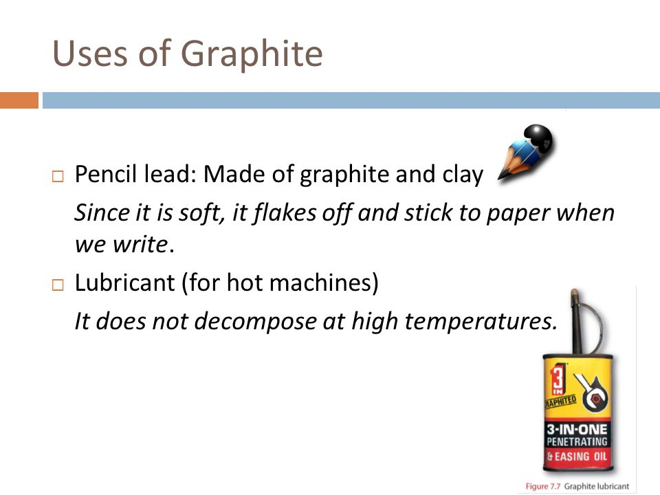 uses of graphite pencil lead made of graphite and clay