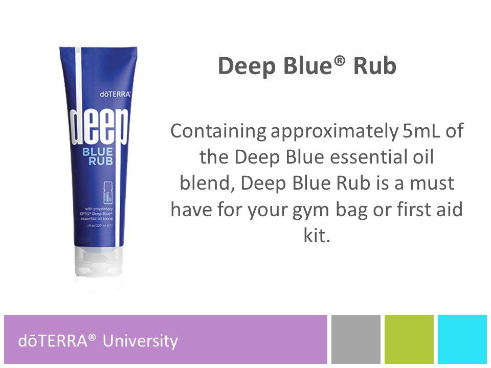Deep Blue® dōTERRA® Product Tools dōTERRA® Product Tools ...