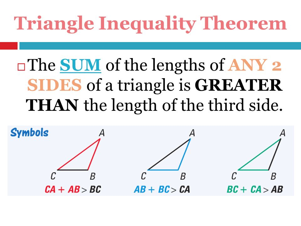 4 7 Triangle Inequalities Ppt Video Online Download