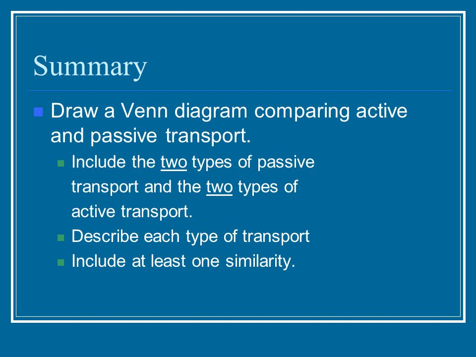 Active And Passive Transport Ppt Video Online Download