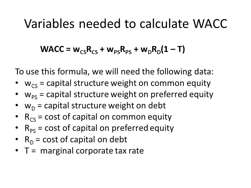 Wacc formula, definition and uses guide to cost of capital.