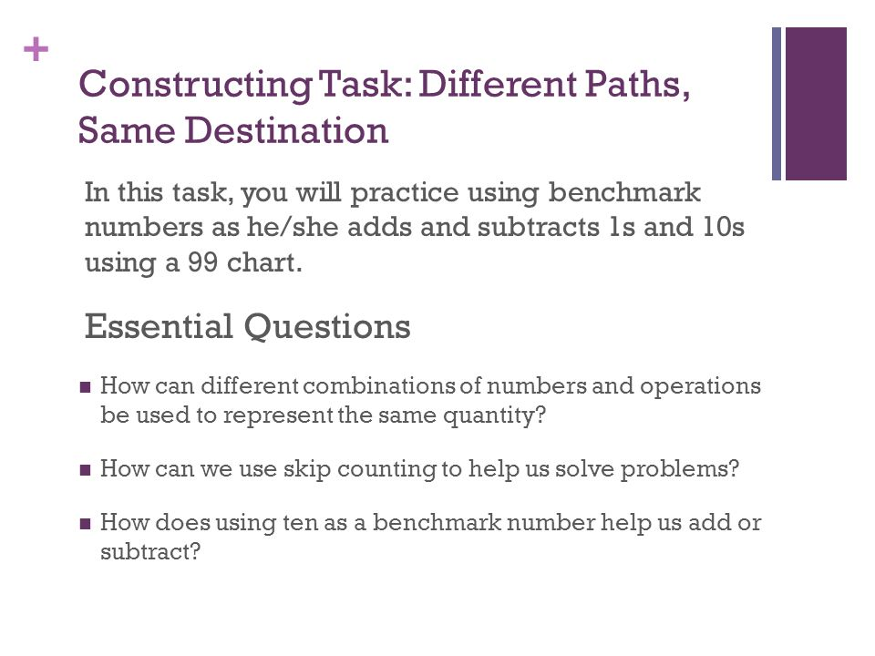 Constructing Task: Different Paths, Same Destination
