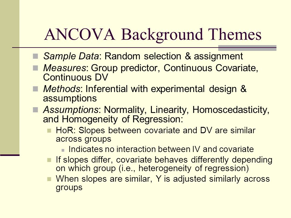 ANCOVA  - ppt video online download