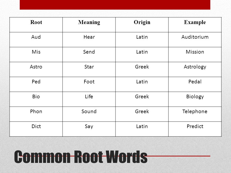 What are word parts root words, prefix and suffixes | english.
