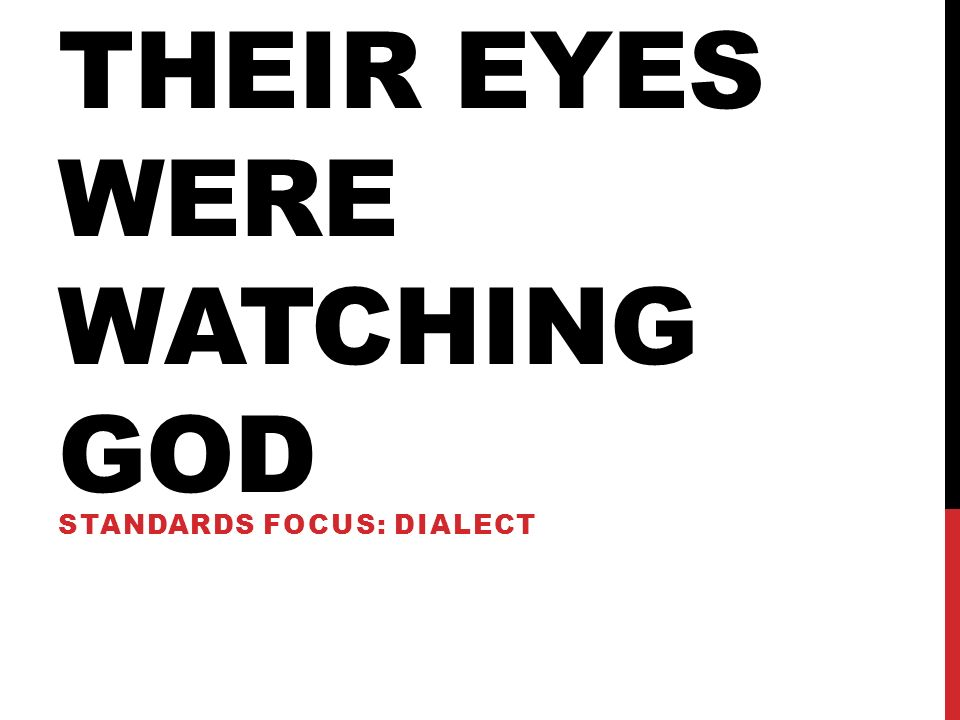 their eyes were watching god dialect translation