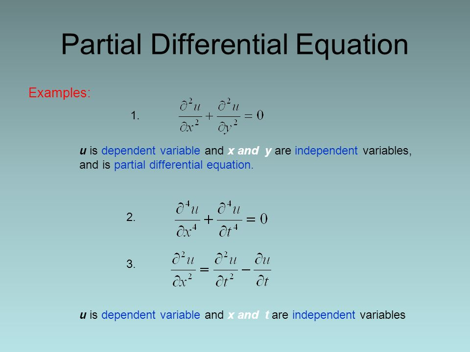 Differential examples ordinary equations Ordinary Differential