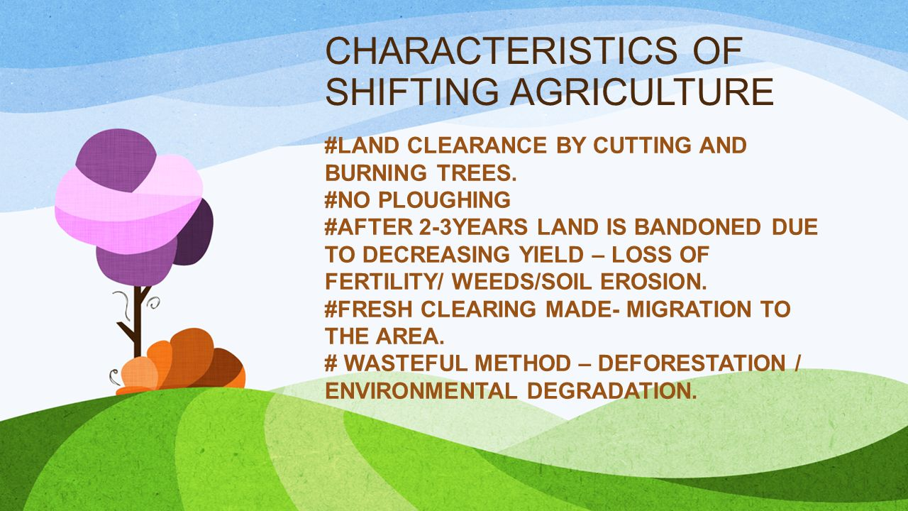 shifting agriculture in india