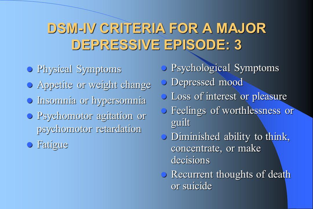 5 DSM-IV ...