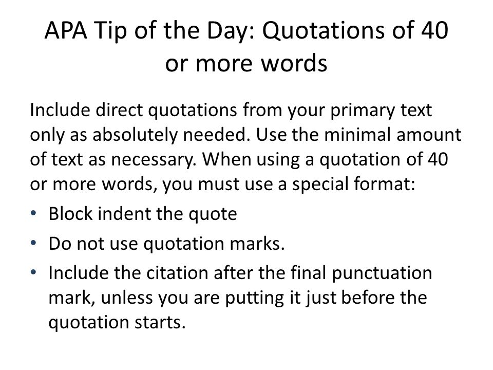 APA Tip Of The Day Quotes Ppt Download Gorgeous Apa Direct Quote