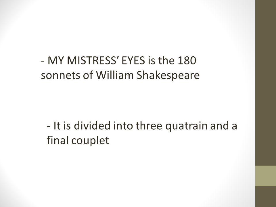my mistress eyes