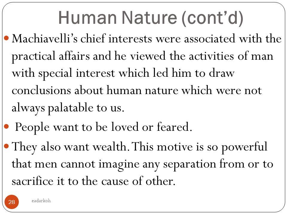 machiavellis view of human nature