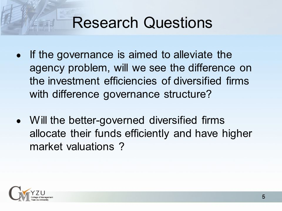 Corporate Governance and Capital Allocations of Diversified