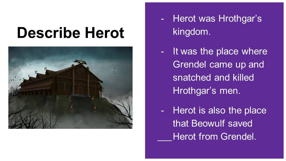 describe herot from beowulf