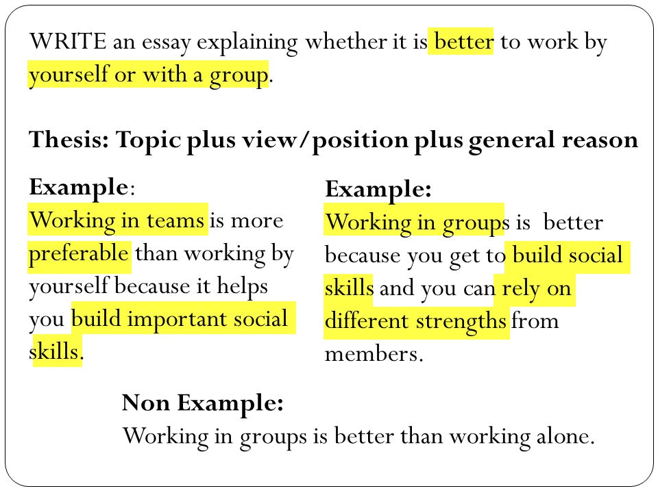 Essay Of Newspaper Write An Essay Explaining Whether It Is Better To Work By Yourself Or With  A Group Research Papers Examples Essays also College Essay Papers Expository Essay Expository Essay What Is An Expository Essay  Ppt  Essay On My Family In English