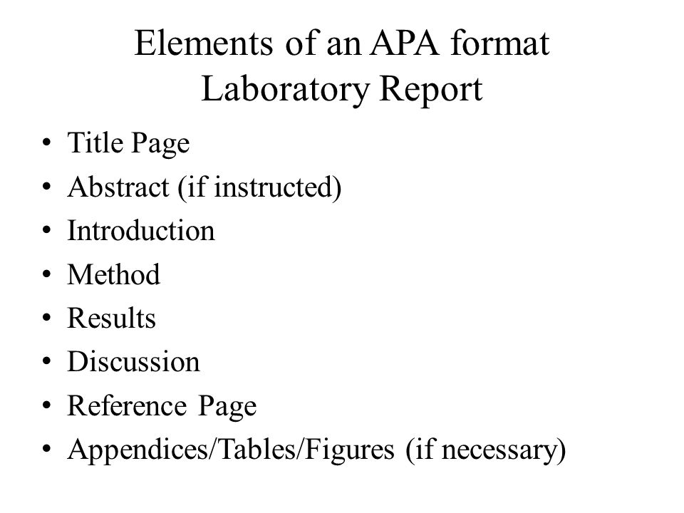 apa lab report example - Isken kaptanband co